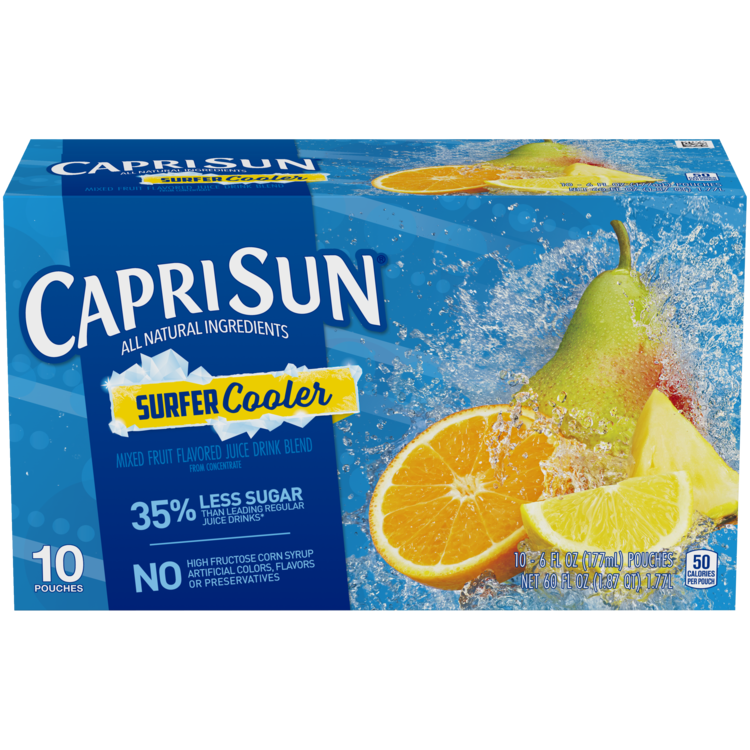Capri Sun Surfer Cooler Juice Drink 10 - 6 fl oz Pouches