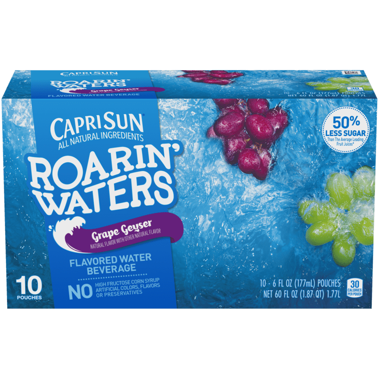 Capri Sun Roarin' Waters Grape 10 - 6 fl oz Pouches