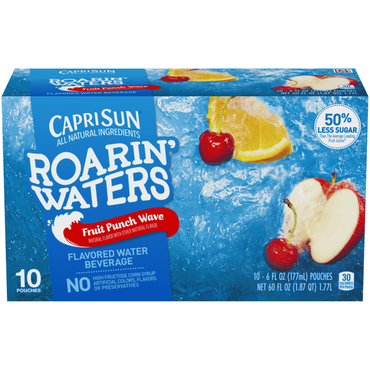 Capri Sun Roarin' Waters Fruit Punch 10 - 6 fl oz Pouches