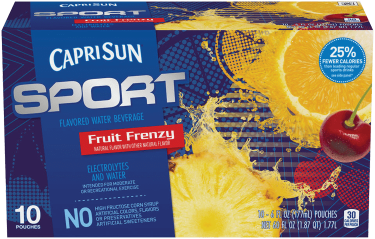Capri Sun Sport Fruit Frenzy Ready-to-Drink Soft Drink 10 - 6 fl oz Pouches