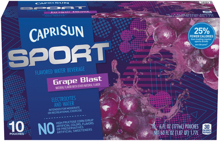 Capri Sun Sport Grape Blast Ready-to-Drink Soft Drink 10 - 6 fl oz Pouches