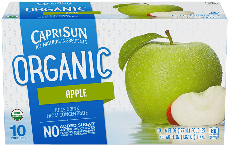 Capri Sun Organic Apple Ready-to-Drink Soft Drink 10 - 6 fl oz Pouches