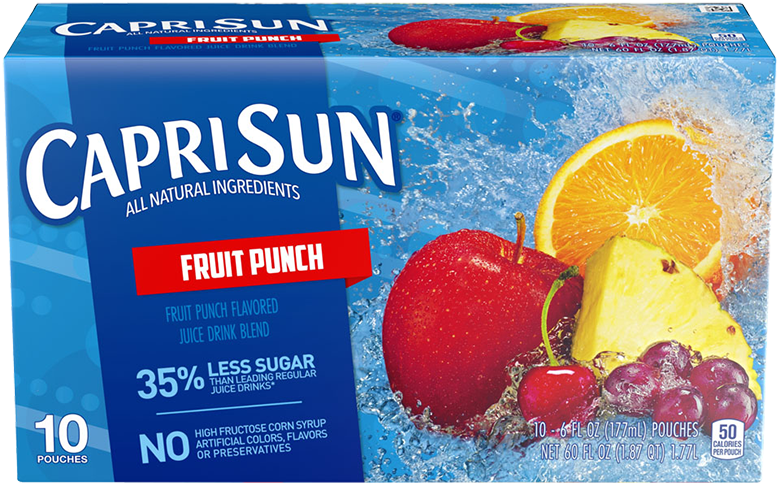 Capri Sun Fruit Punch Ready-to-Drink Soft Drink 10 - 6 fl oz Pouches
