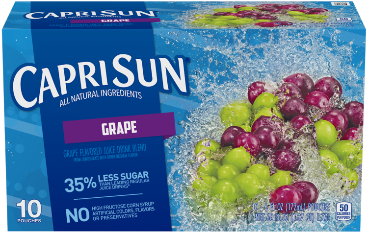 Capri Sun Grape Ready-to-Drink Soft Drink 10 - 6 fl oz Pouches