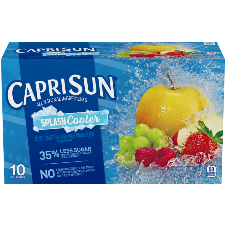 Capri Sun(R) Splash Cooler Juice Drink 20-6 fl. oz. Pouches