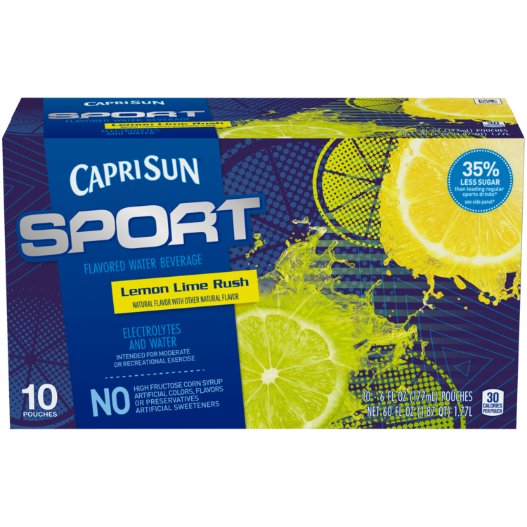 Capri Sun Sport Citrus Rush Ready-to-Drink Soft Drink 10 - 6 fl oz Pouches