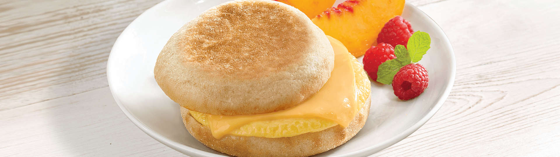 EGG WHITE & CHEESE ENGLISH MUFFIN