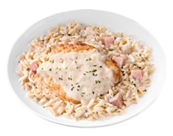 CHICKEN CORDON BLEU ORZO
