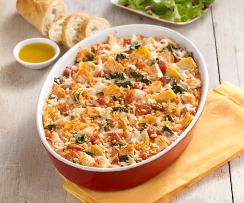 Chicken, Rice and Artichoke Casserole