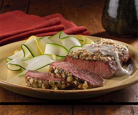 Gorgonzola Crusted Steaks