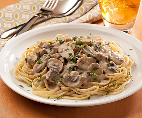 Linguini Alfredo with Mushrooms