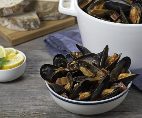Mussels Cabernet Marinara