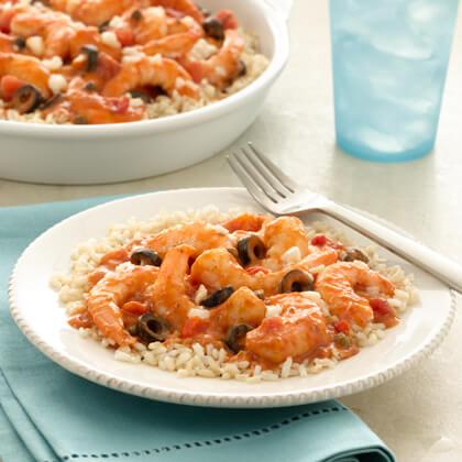 Mediterranean Shrimp Bake