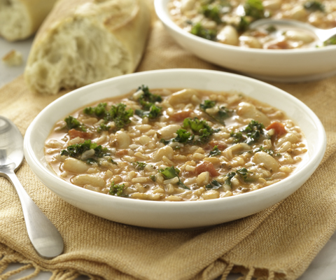 Rice, Kale and Bean Soup