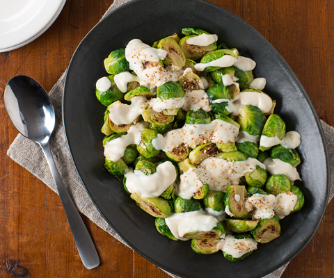 Alfredo & Roasted Garlic Brussels Sprouts