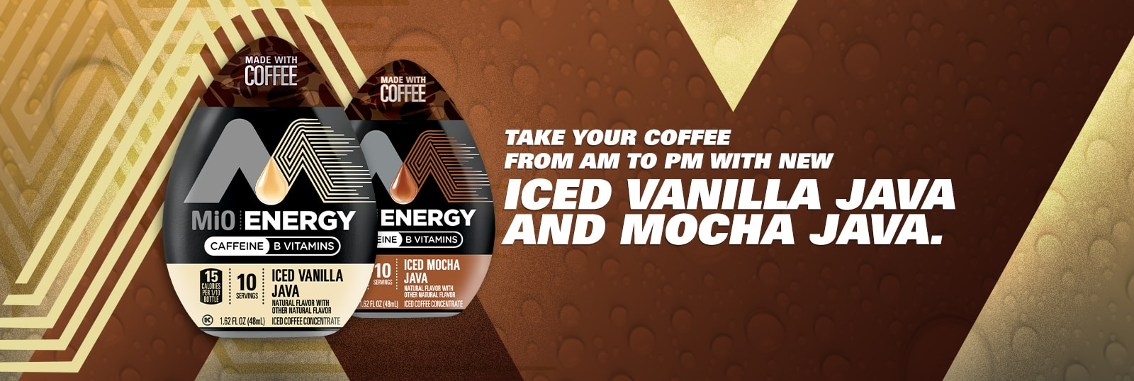 Iced Vanilla JAVA and Mocha Java