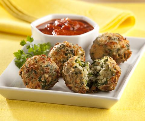Spinach and Mozzarella Fritters