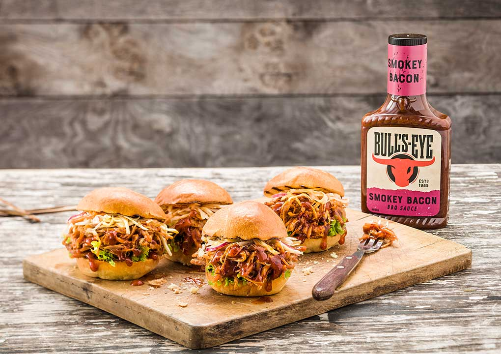 Bull's-Eye perfekta sliders med pulled pork