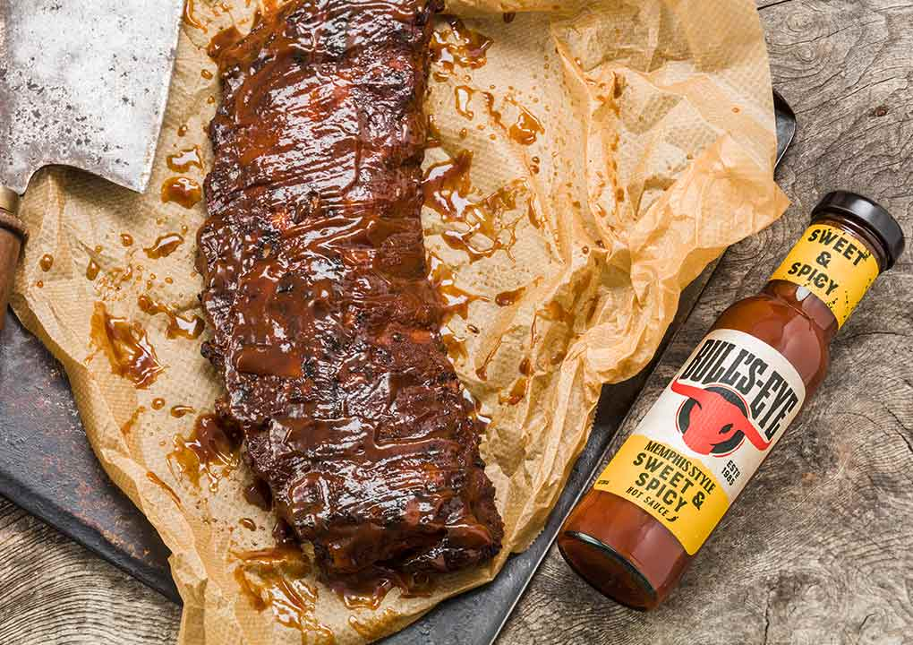 Bull's-Eye sticky BBQ ribs