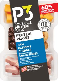 Oscar Mayer P3 Ham, Cashews, Cheddar, & Cranberries Portable Protein Pack Tray, 3.2 oz
