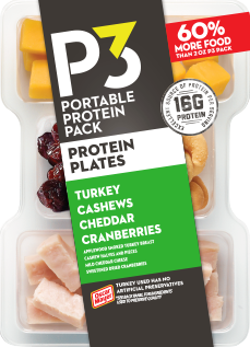 Oscar Mayer P3 Turkey, Cheddar, Cashews & Cranberries Portable Protein Pack Tray, 3.2 oz