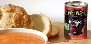 Since launch in 1910, Heinz have sold enough cans of Cream of Tomato soup to: a) travel once around the world b) travel to the moon and back c) travel around the UK 100,000 times image
