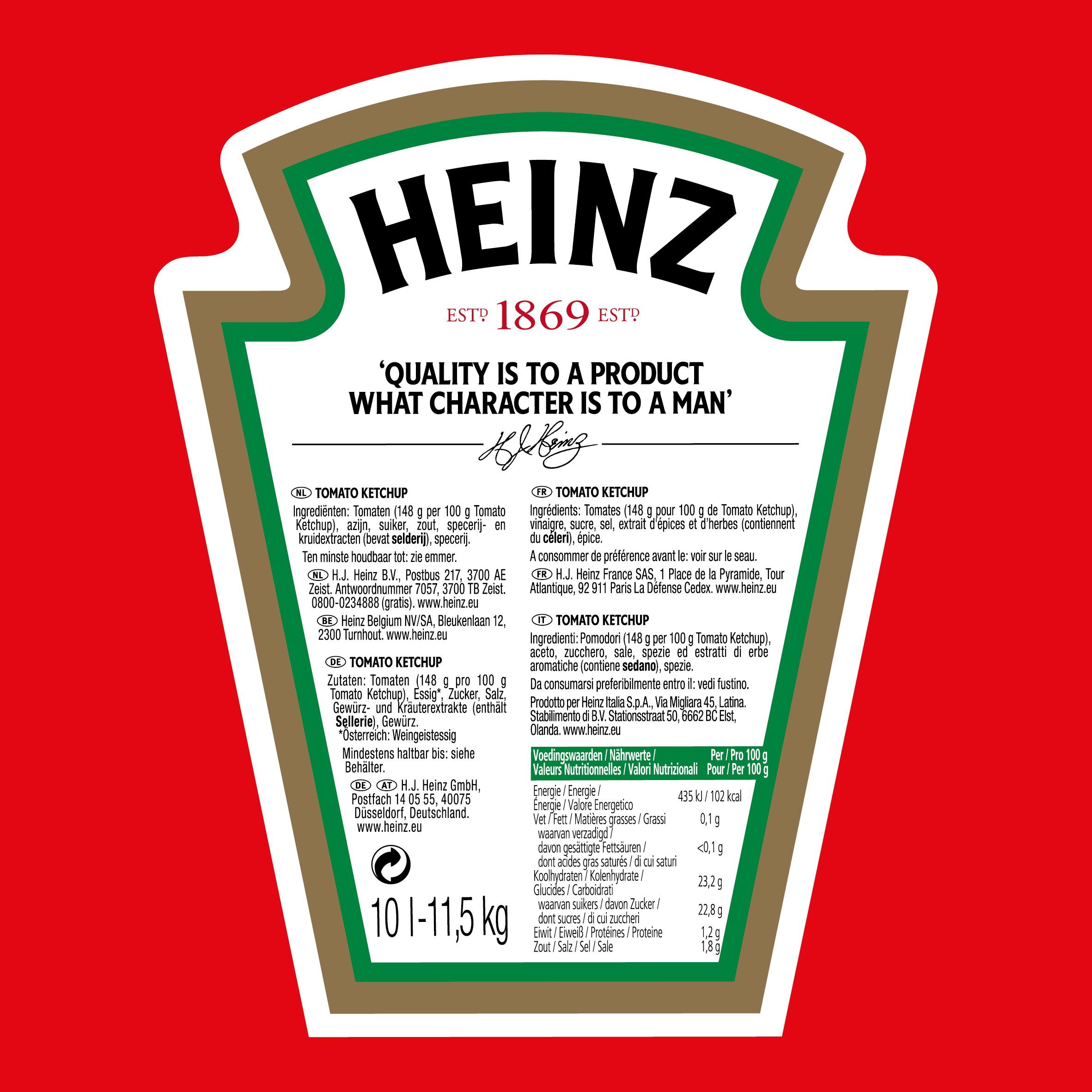 Ketchup Heinz 10L wiadro