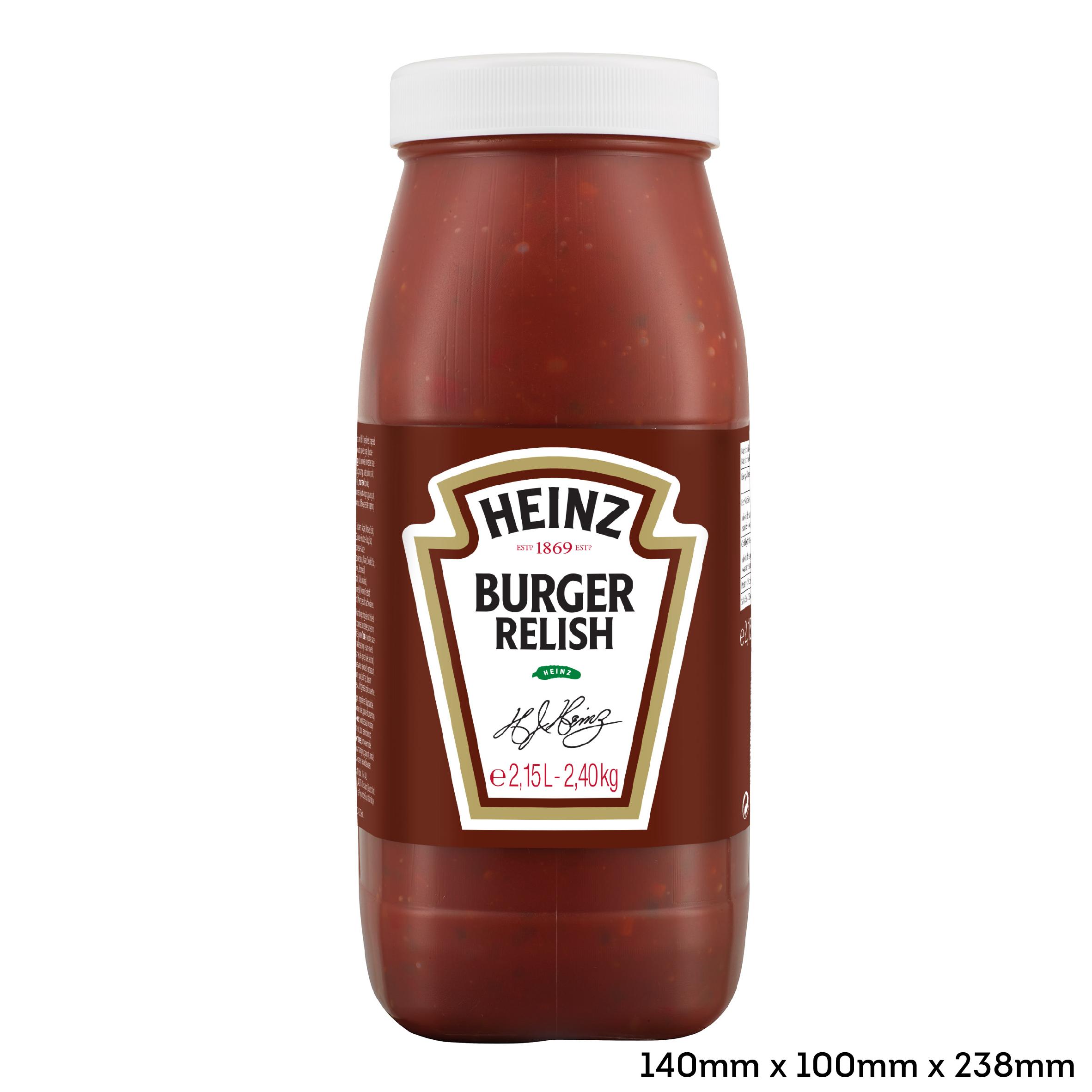 Relish do burgerów Heinz 2.15L słoik plastikowy