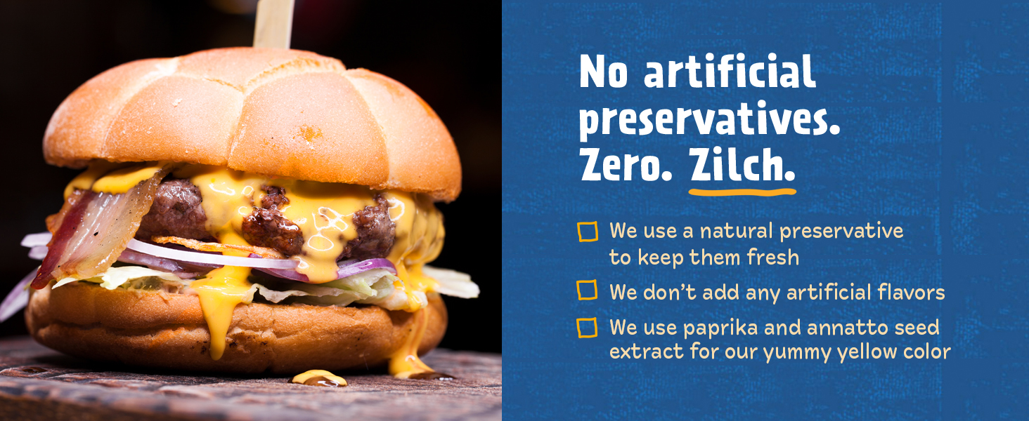No artificial preservatives. Zero. Zilch.