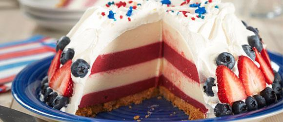 JELL-O Holiday Desserts - Red, White and Blue