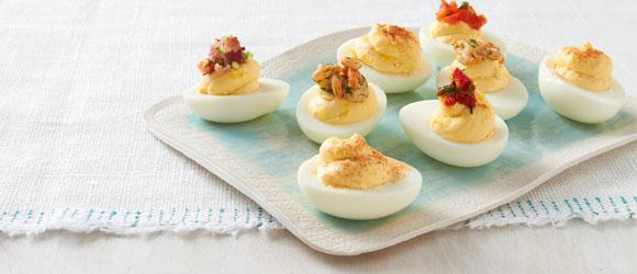 Healthy Living Deviled Egg Appetizers