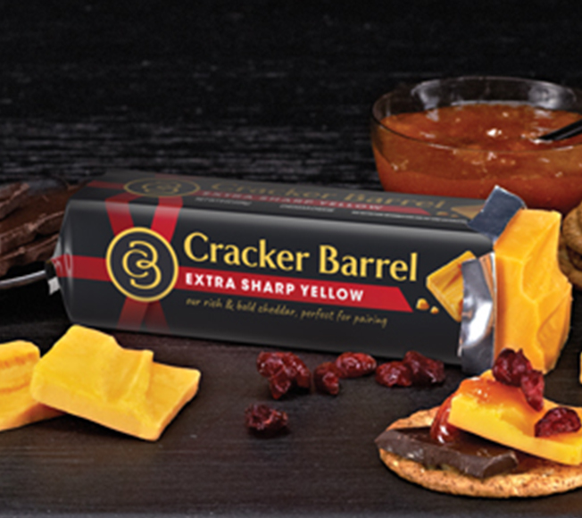 Dark Chocolate, Cranberry & Apricot with Extra Sharp Cheddar<