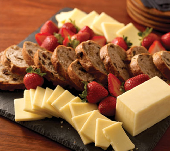 Strawberry & Raisin Bread with Aged Reserve Cheddar
