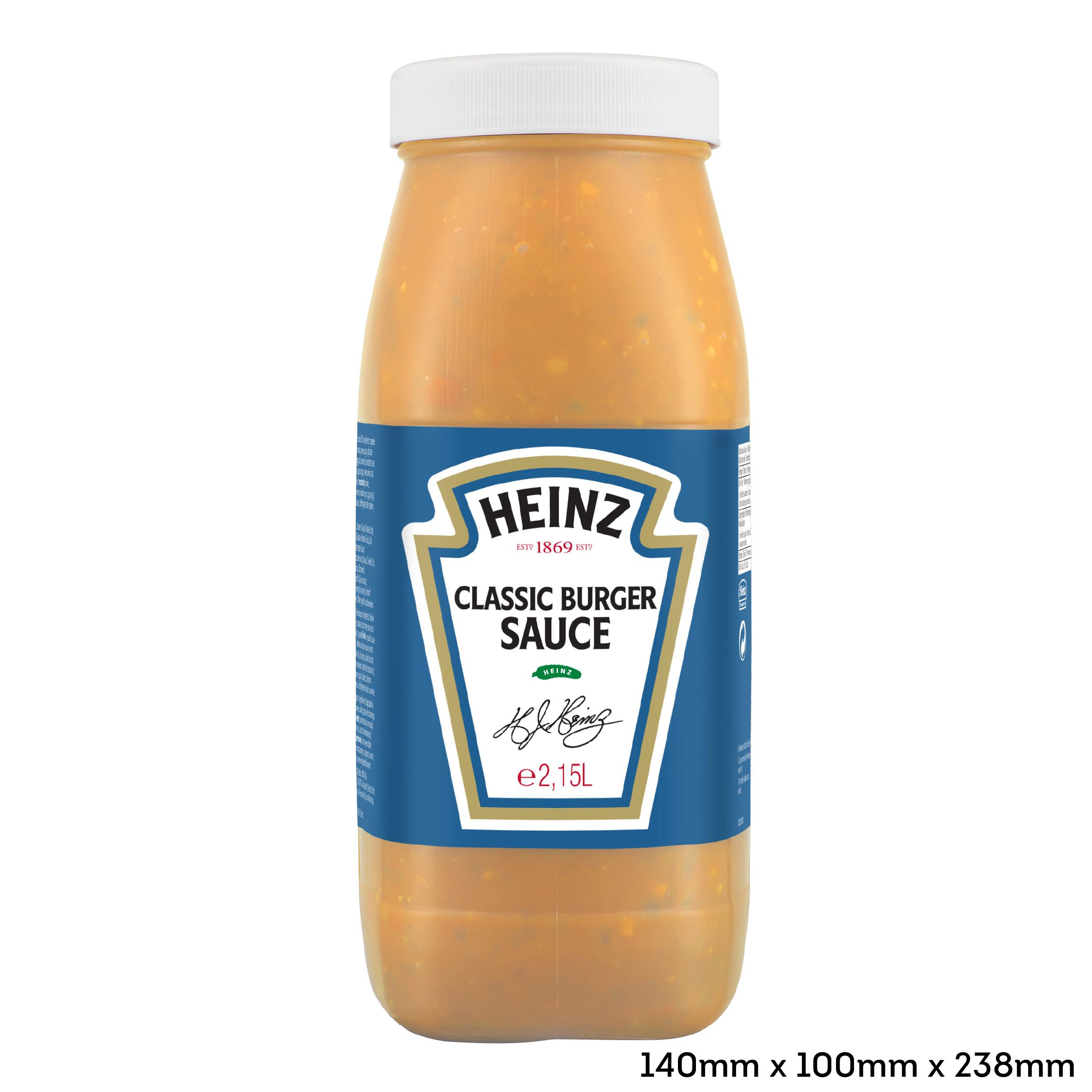 Heinz Classic Burger saus 2.15L fles