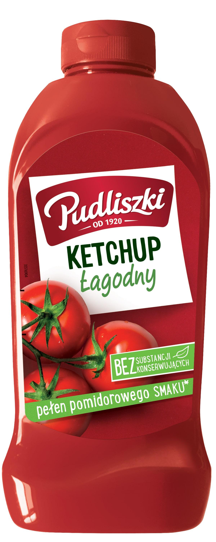 Ketchup łagodny Pudliszki 990 g plastikowa butelka image