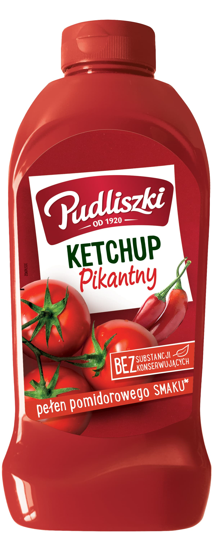 Ketchup pikantny Pudliszki 990g plastikowa butelka image