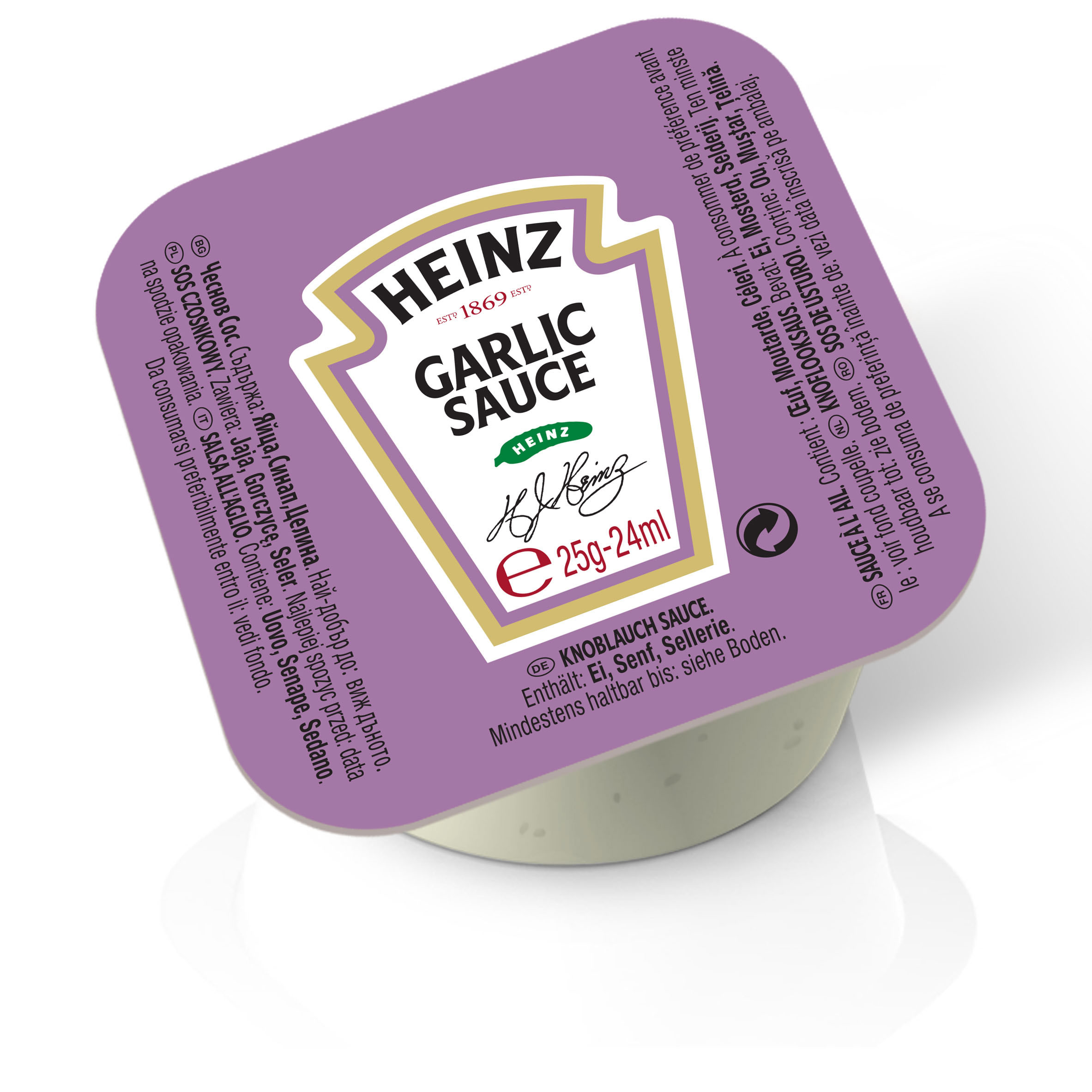 Sos czosnkowy Heinz 25g dip pot image