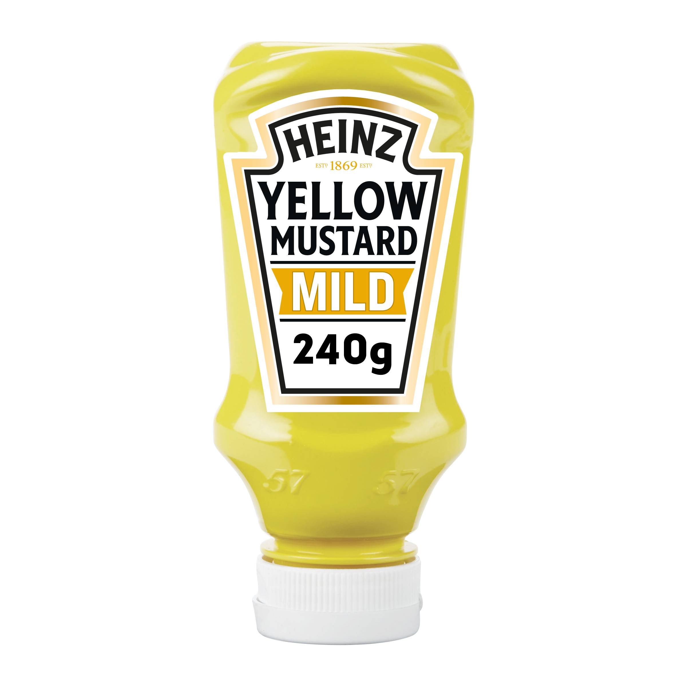 Heinz Yellow Mustard Mild 220ml Top Down image