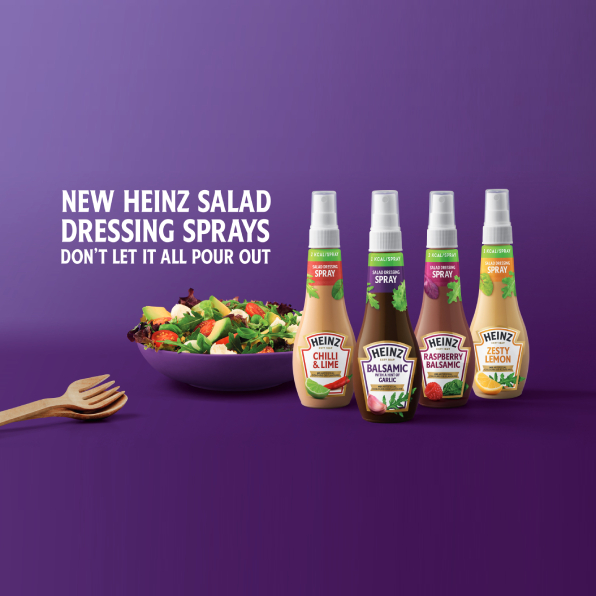 HEINZ LAUNCHES SALAD DRESSING SPRAYS