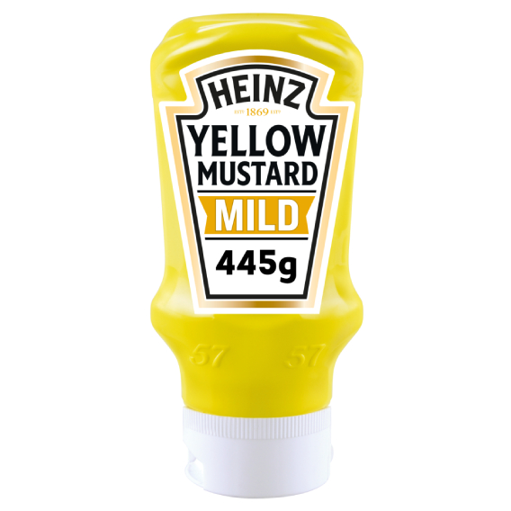 Heinz Yellow Mustard Mild 400ml Top Down image