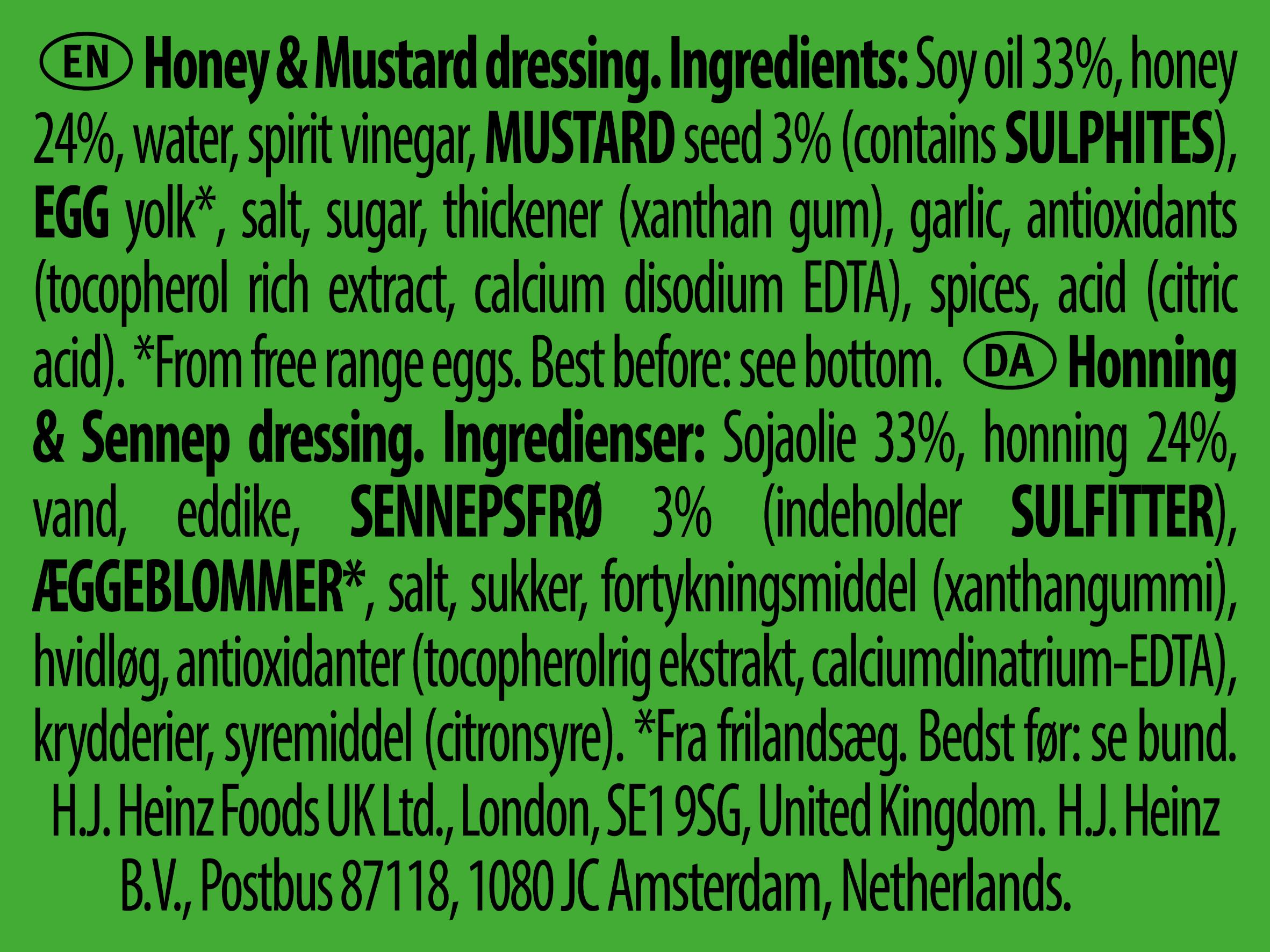 Heinz Honey Mustard 25ml Dip Pot
