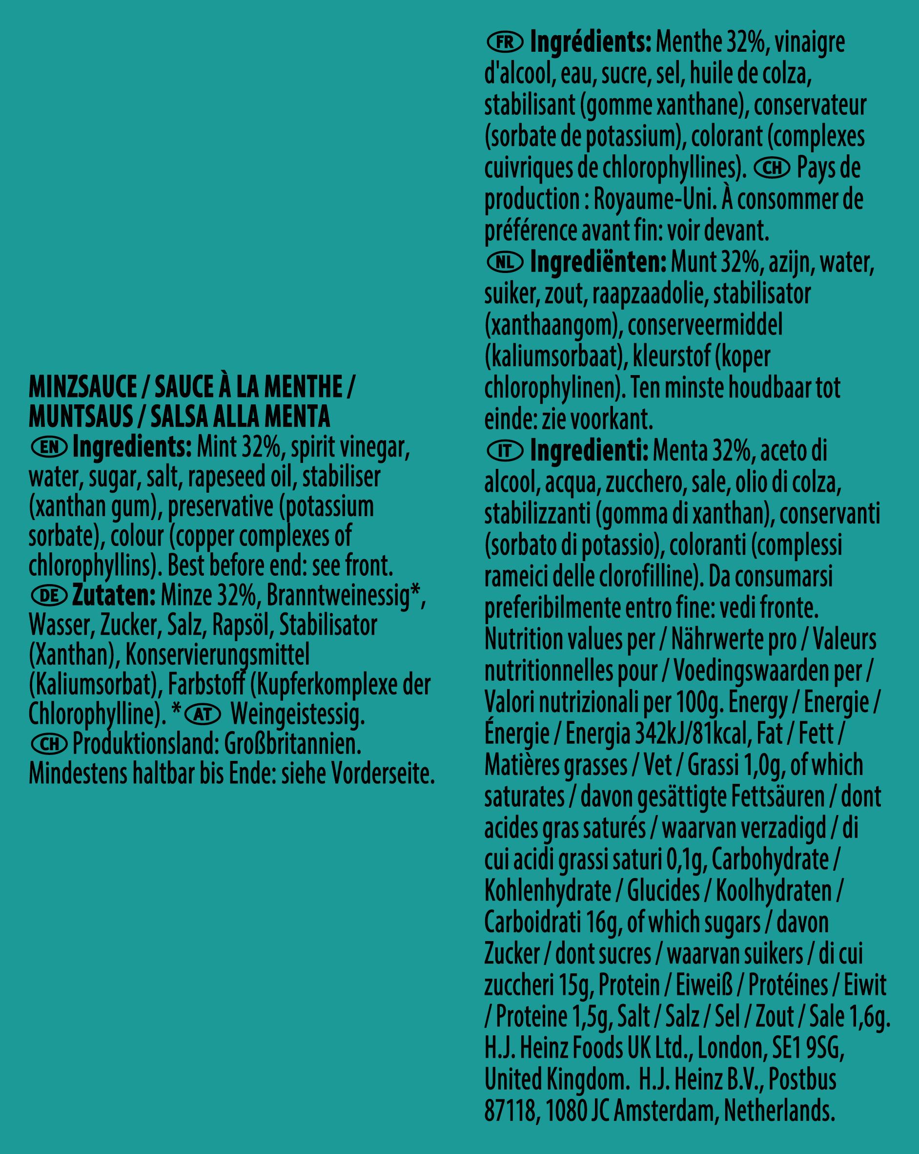 Heinz Mint 10ml Sachet
