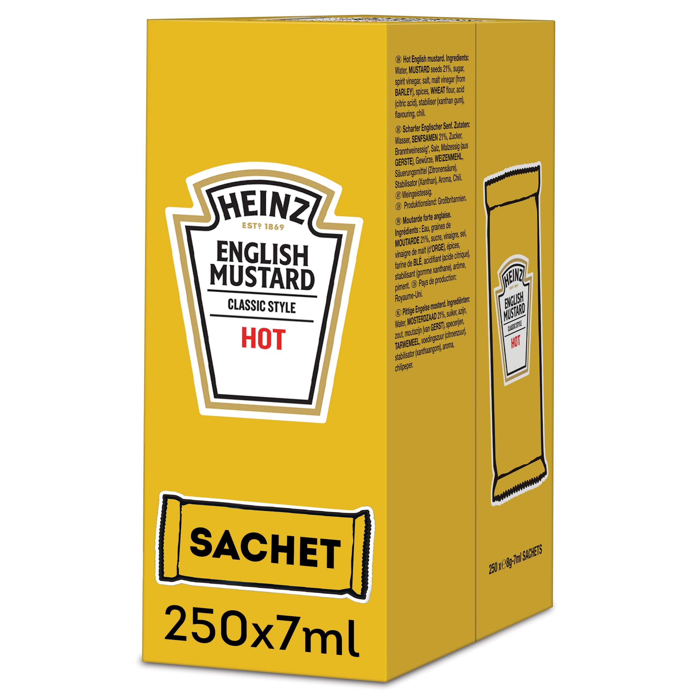 Heinz English Mustard Hot 7ml Sachet