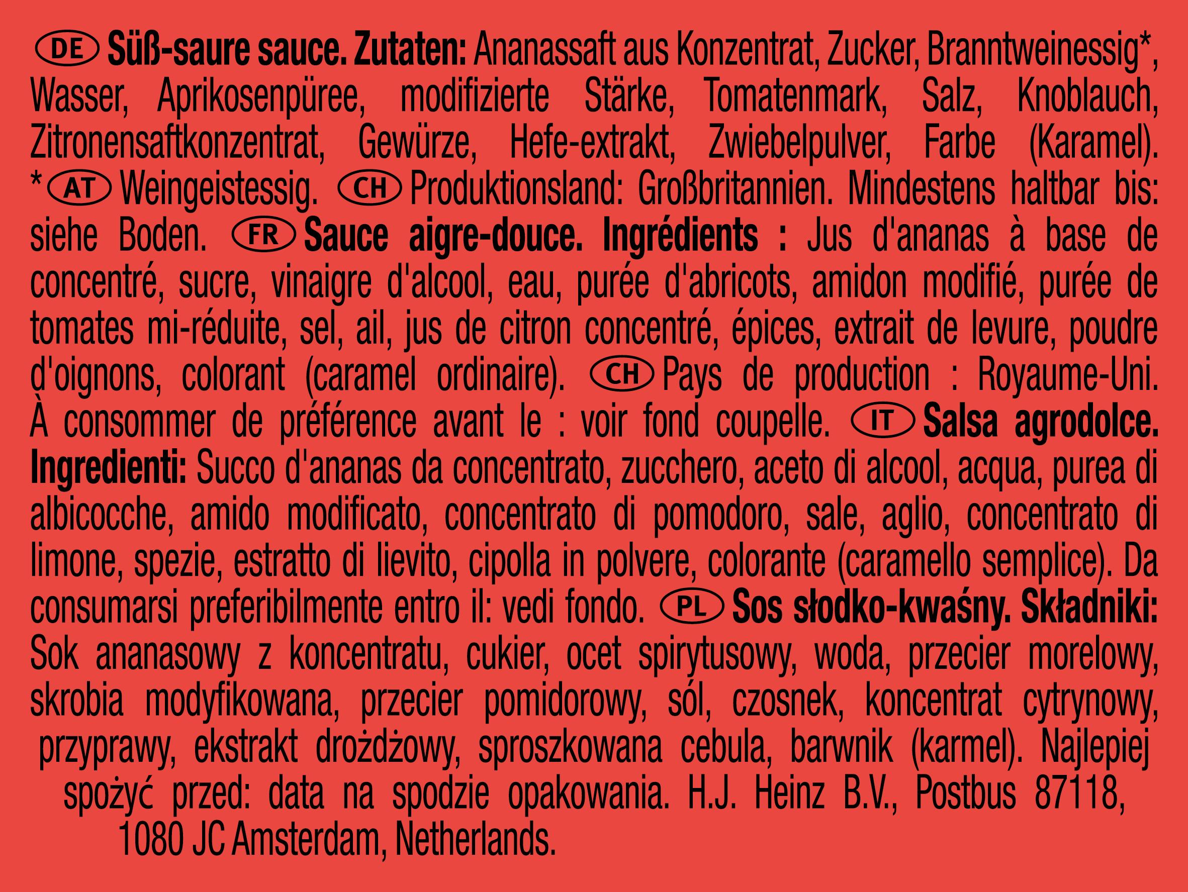 Heinz Sweet & Sour 25g Coupelle