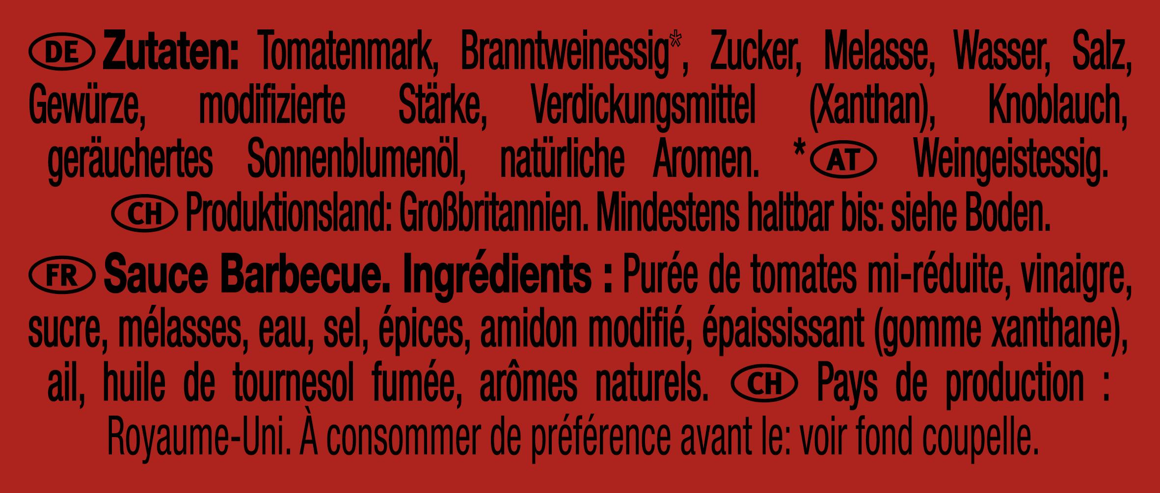 Heinz Barbecue 25g Coupelle