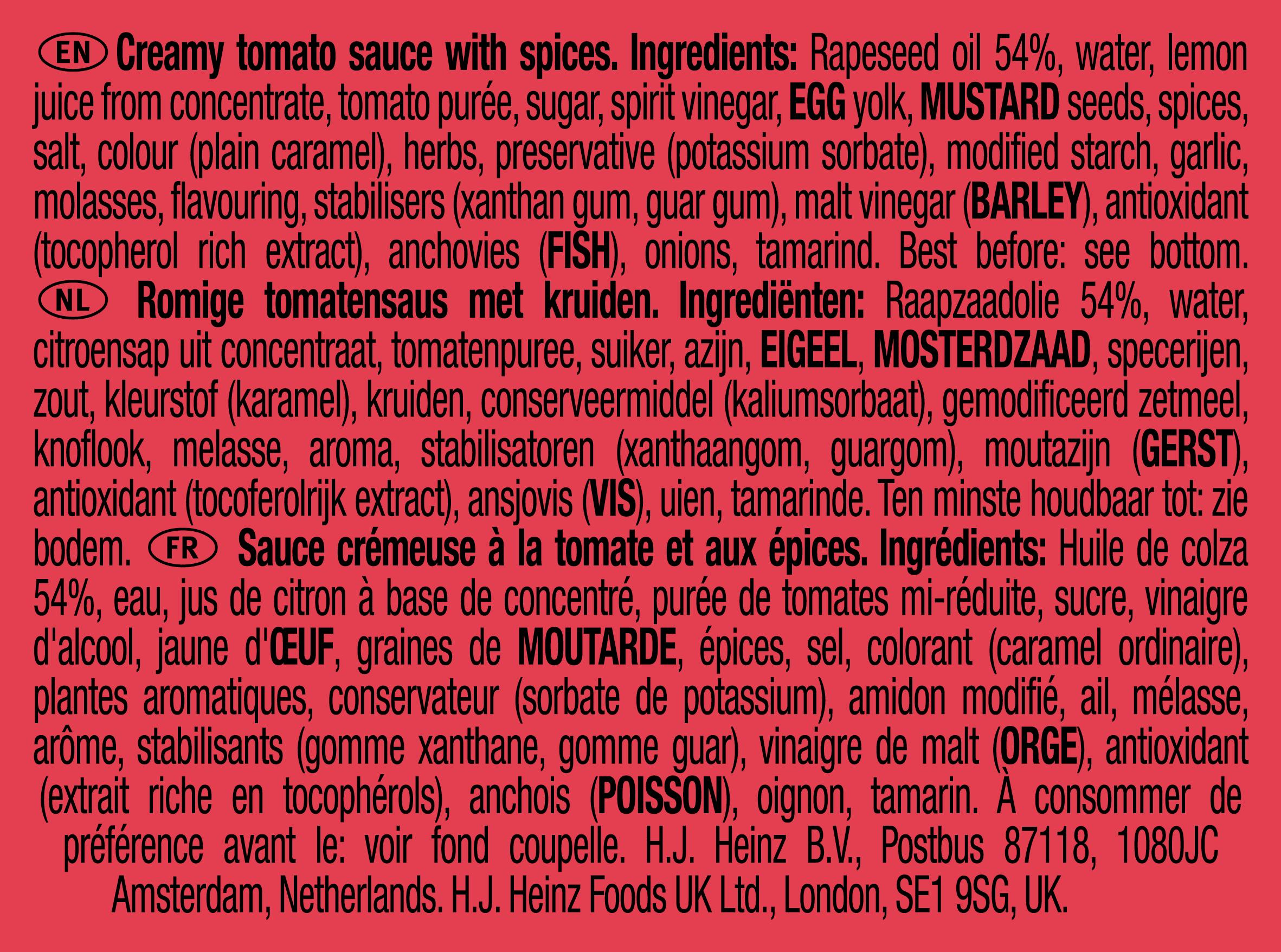 Heinz Andalouse 25g Coupelle