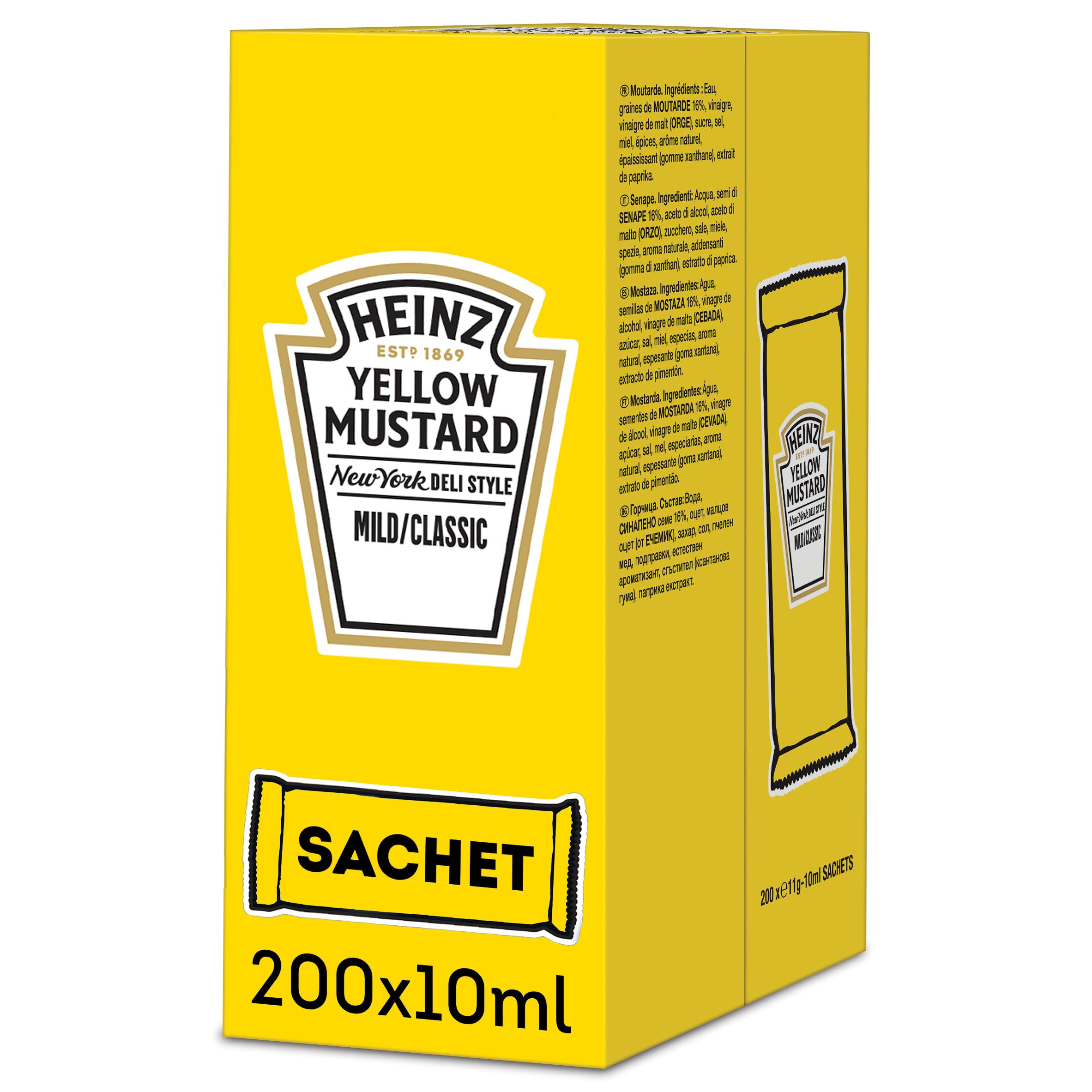 Heinz Yellow mustard 10ml Sachet