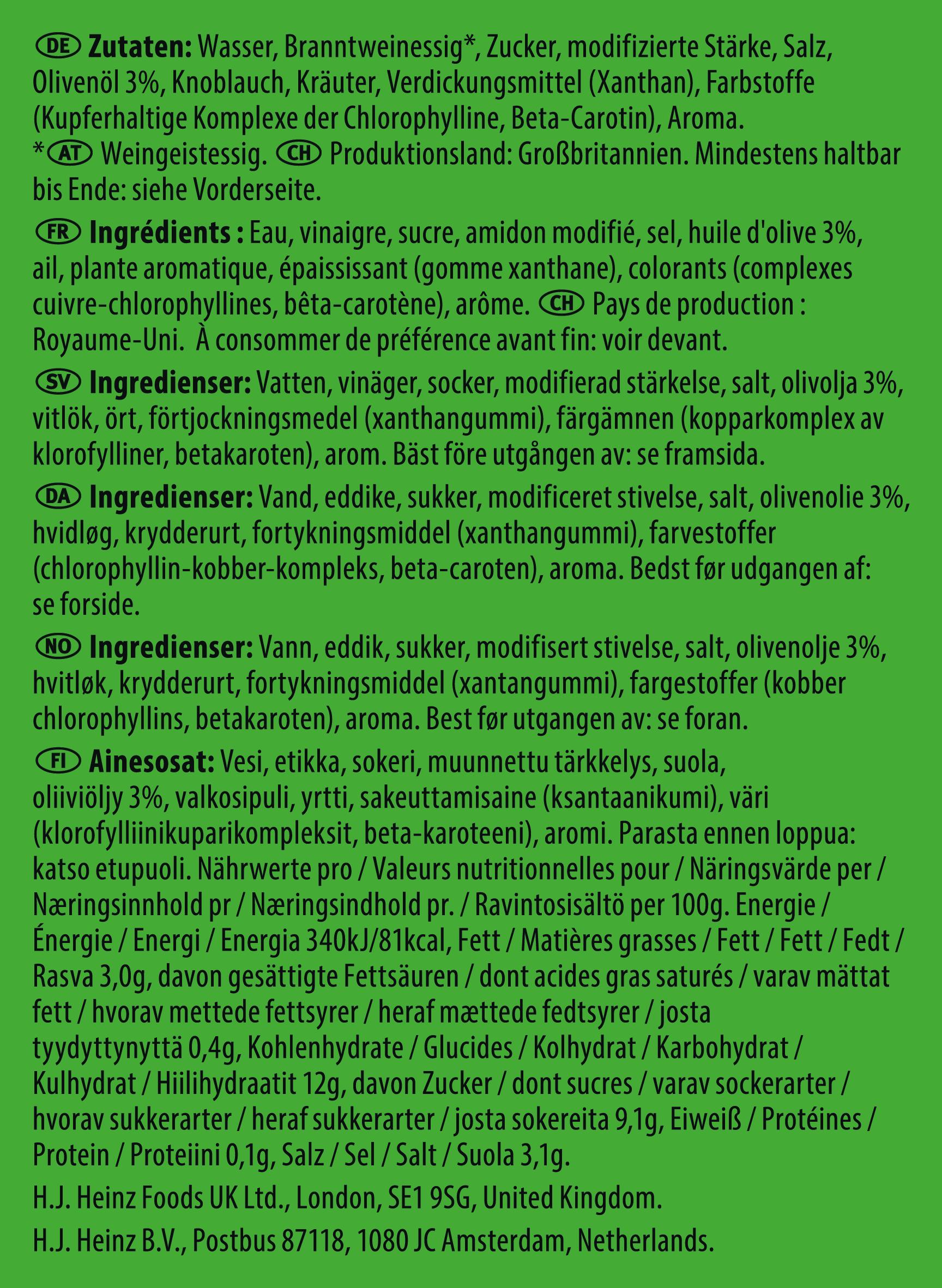 Heinz Italian Vinaigrette 50ml Sachet