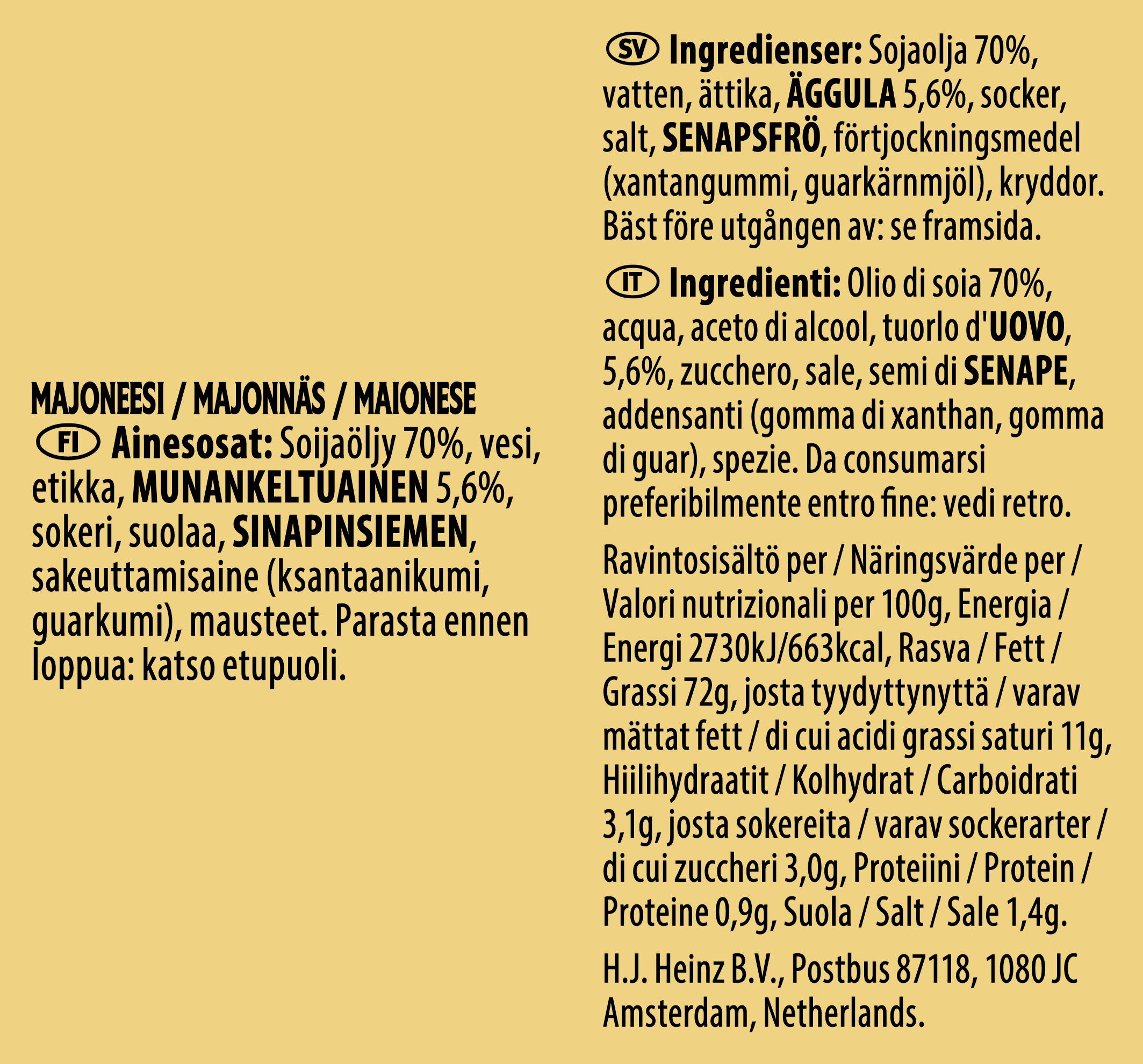 Heinz Maionese 10ml Bustina