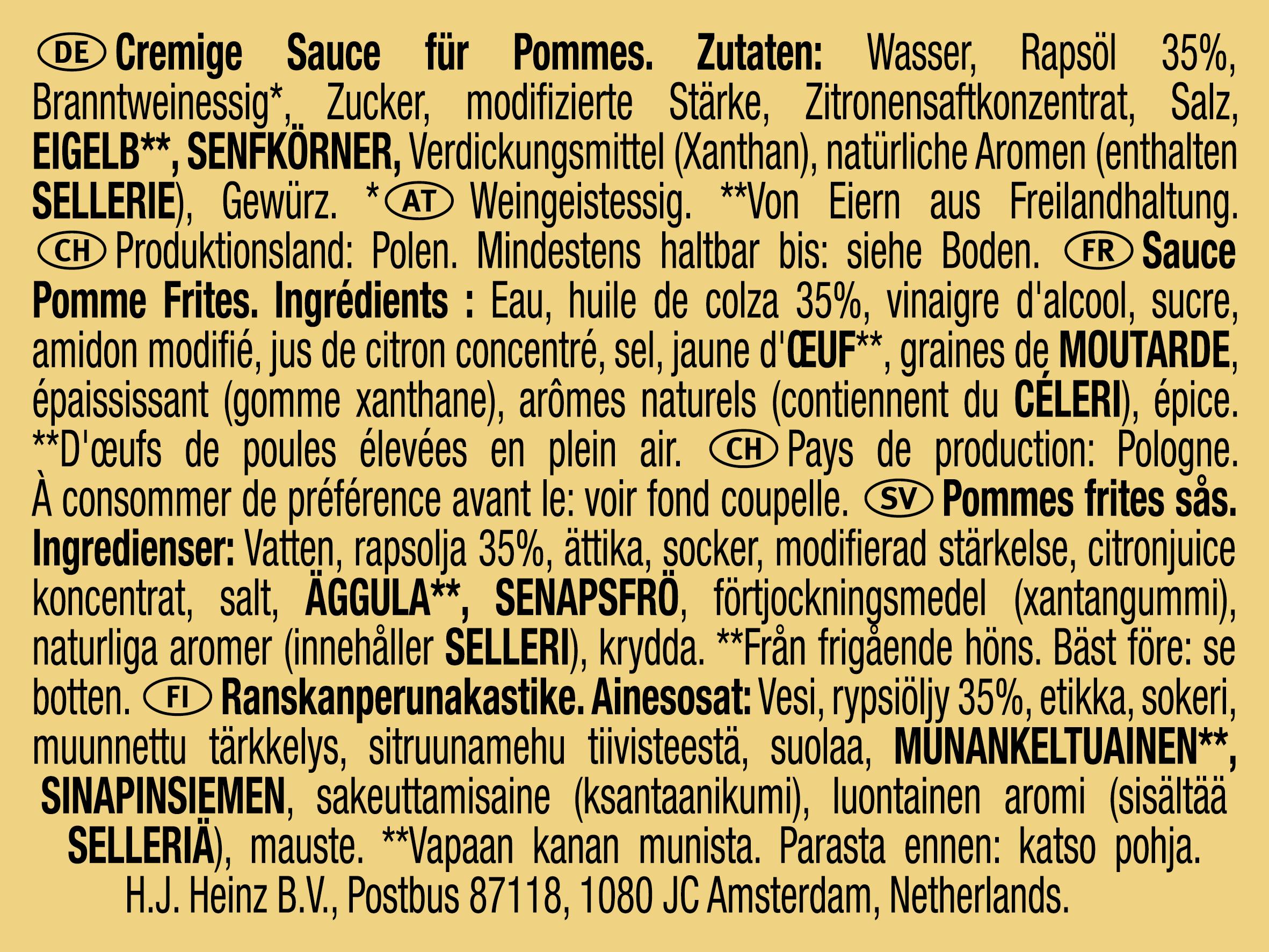 Heinz Fritessaus dippot 25ml